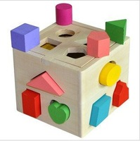 13 holes intelligence box Shape matching toy building blocks baby educational toys kids early learning toys + free shipping
