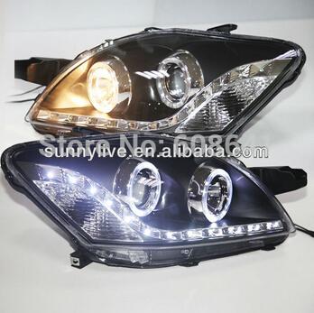 LED Angel Eyes Head Lamp for TOYOTA VIOS 2008-2012