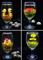 4 Pcs Different Blooming tea Flowering tea Green Tea All By Hand Delicious