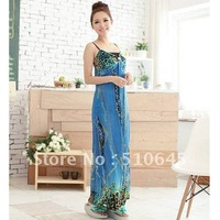 2012 Fashionable Collection - Long Slip Maxi Dress with Bohemian Floral Pattern for Summer-55817