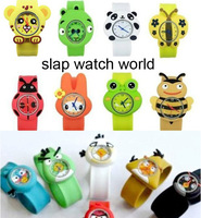 2013 Fashion silicone cartoon animals slap watch, mixed more than 10 designs(SW-409)