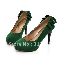 new style Nubuck (Faux suede )women's high heel pumps  shoes  5 colours Drop shipping XLLD D-6