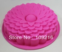 Green Good Quality 100% Food Grade Silicone Cake Mold/Chocolate Mold/Muffin Cupcake Pan Many Petals Flower DIY Mold