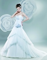 DM0415 Factory Direct ! vintage big tail layered tulle 2013 the most hot sale ball gown wedding dress