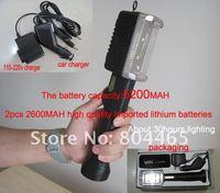high quality multi-function rechargeable led working light+led flashlight,4400mAh lithium battery,emergency lighting