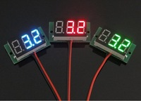 10 PCS/LOT DC 2.70V to 30V Green LED Digital Panel Meter Power Monitor Lithium Battery Indicator Voltmeter #0002