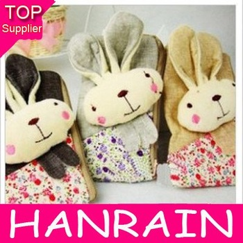 Retail Free shipping New Cute Coin purse fashion style Rabbit Mobile phone bag  case 5 pcs/lot