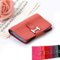 Fashion Genuine Leather Brand Designer Business Card Package Multi Colors Card Case Free Shipping