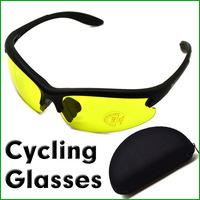 2013 FASHION STYLE C2 Night Vision Yellow Lens Glasses for Cycling Sports Sunglasses Free Shipping