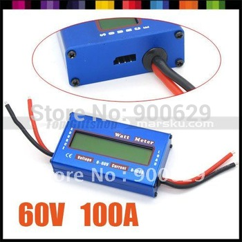 New Digital 60V/100A Balance Voltage Power Analyzer Watt Meter Checker Balancer RC Helicopter Battery Charger #2975