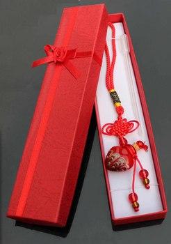 Murano Glass Car Aroma Freshener Phoenix Tail perfume vials  essential oil bottle jewelry