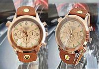 Wholesale Men Watch Brown Genuine Leather Wide Band Wrist Watch men man watches DS002-1