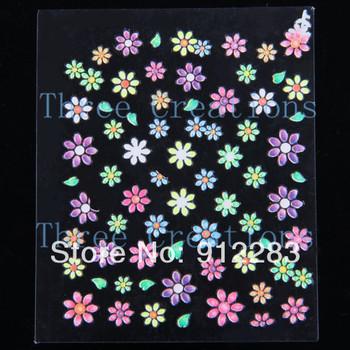 Free Shipping 250 Sheets Mix Designs Acrylic Nail Sticker, Nail Decal