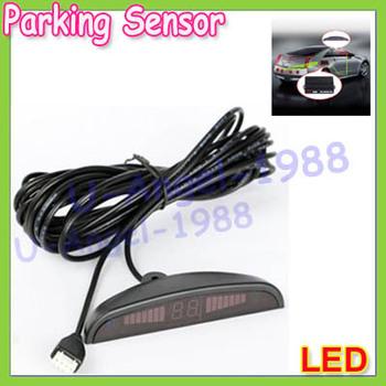 Register free shipping!! Car LED 4 Parking Sensors Reverse System Backup Radar For Auto Vehicle Reversing
