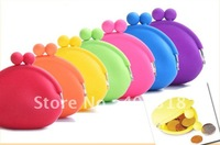 Wholesale - Candy Colorful Multifuctional Half-round Silcone Storage Bag For Key/Money 12pcs