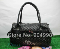 Hello Kitty Fashion handbag for lady Black color 7301 Free Shipping
