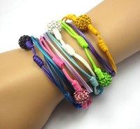 >$10 ,Free Shipping, shamballa 10mm blue  beads  bracelet for women ,2012  charm  beads,Strand rope shamballa bracelet