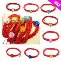 Wholesale 100pcs/lot  Crystal bead shamballa bracelet for girls/ women ,big sale ,Strand rope shamballa bracelet