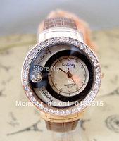 Wholesale women wristwatches ladies fashion leather strap quartz watch rhinestone Women dress watches  NW373