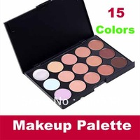 Free Shipping+Drop shipping 15 Color Concealer Camouflage Face Cream Makeup Palette Set Make up Concealer Eyeshadow