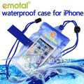 Free shipping waterpoof bag case for iphone and 3.5 inch screen smart phone(China (Mainland))