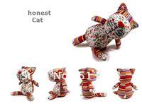 New Doll Honest Cat Handmade Muppet Toy Figurine Cloth Art Decoration (Medium)