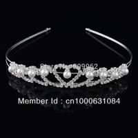 Free Shipping 3pcs/lot Fashion Pearl Tiara Bridal Hair Accessories Metal Hair Claw Clips For Woman Wedding Crown Hair Jewelry