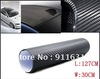 Free shipping 3D 30cm x127cm Carbon Fibre sticker Vinyl Sheet BLACK For All Car