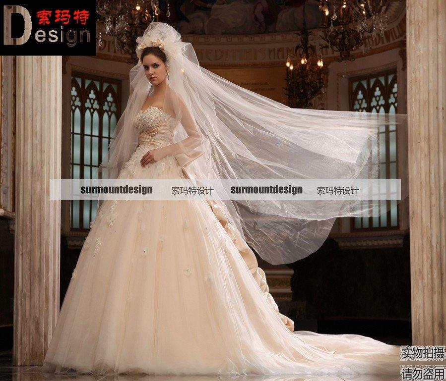 Superare professionale 100% campione reale Zuhair muard tesoro abito da sposa
