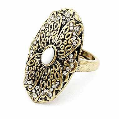 Min.order is $15 (Mix order) Classic Vintage Jewelry Elegant Hollow Flower Spirit Ring,Gem Rings(China (Mainland))