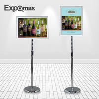 Hot sales! E05P03 A3 exhibit display floor display stand  sigh holder store display stands