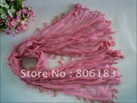 mu1066 new style with ear wholesale crumple voile long scarf  fashion shawl wrap muslim hijab free shipping