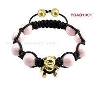 Retail handmade shamballa bracelet with crystal ball