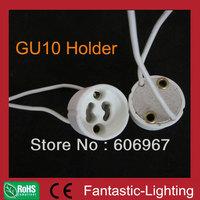 LED Spotlight socket base GU10 holder Ceramic Holder Wire Connector 200pcs/lot 2 years warranty VDE CE DHL free shipping