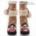 HOT ! Women's Winter Snow boots for Lady  hand painted    G-K002