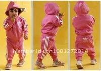 Free shipping,wholesale 3 sets/lot children sporty suit,children jacket+pant,children wear,kids suit,baby suit