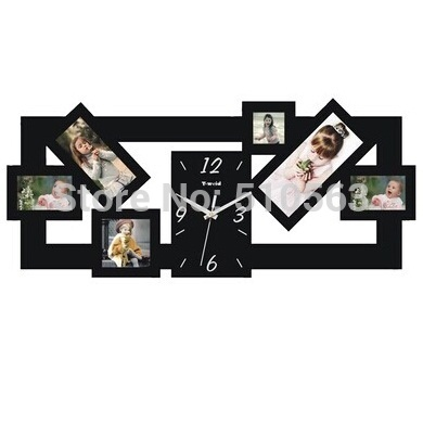 Free shopping and free production of photo ,clocks home decor creative photo frame bedroom art mute the clocks and watches(China (Mainland))