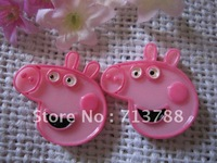 flat back resin peppa pig for phone decoration 12pcs/lot