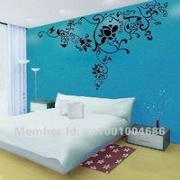 Free Shipping Home Decor Cool Branch Flower Wall Sticker (135CMx75CM)