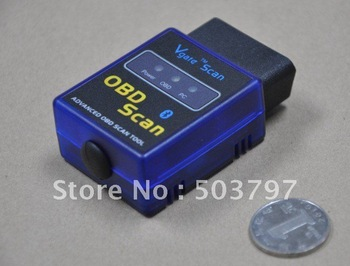 10PCS/LOT MINI327 ELM 327 V1.5 OBD-II Bluetooth Auto Scanner OBD2 Diagnostic Tool works on Android Torque MINI ELM327