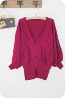 8133 Fashion Lady Knitwear Knitting Cardigan Long Sleeve Loose Tuck Up Great Shape