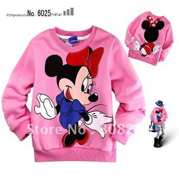 Hot sale hot fashion cartoon fleece sweatshirt for kids spring autumn jacket for girl age 2-8 Y