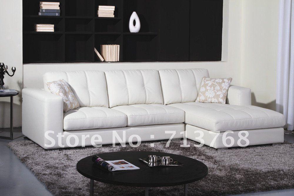Compra sala de muebles de cuero online al por mayor de - Muebles sofas modernos ...