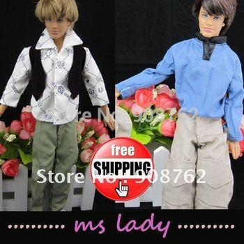 Free Shipping! dress for barbie wear for barbie boyfriend Ken clothes set for barbie prince Ken 3 sets/lot