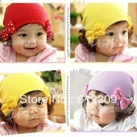 Wholesale Free Shipping Kid hats and caps   L12469LI   New Design Lovely Santa/Christmas/x&#39;mas cheap Baby Hats