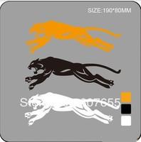 free shipping!   Wholesale Funny Car sticker leopard   reflective sticker for car logo 30pcs/lot
