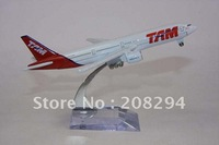 Wholesale Free Shipping, 5 pcs/lot B777-300 TAM Brazil,metal airplane models,airplane model, airbus prototype machine