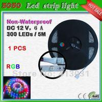 Non-waterproof Led Strip RGB 5050 300 Leds Rope Led Lights 60 Leds/m Strisce Led Christmas Halloween Decoration fita de led rgb