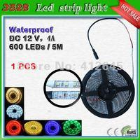 Free shipping 3528 smd 12V waterproof led strip tape_120 leds/m strip light