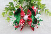 4.5 inches christmas ribbon of hair bows, mix colors,cheap,2013 sell hot, free shipping!